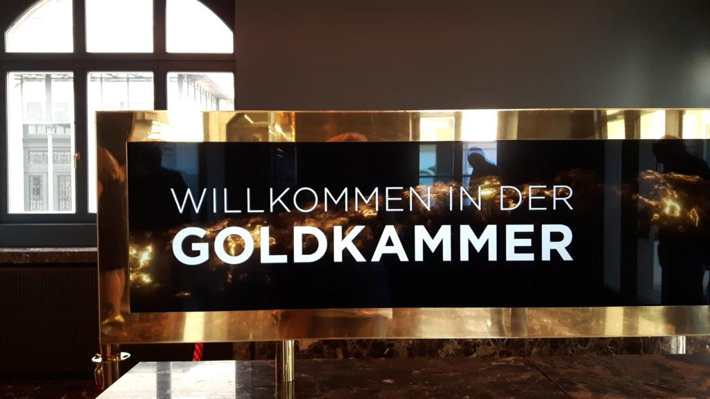 Willkommen in der Goldkammer!