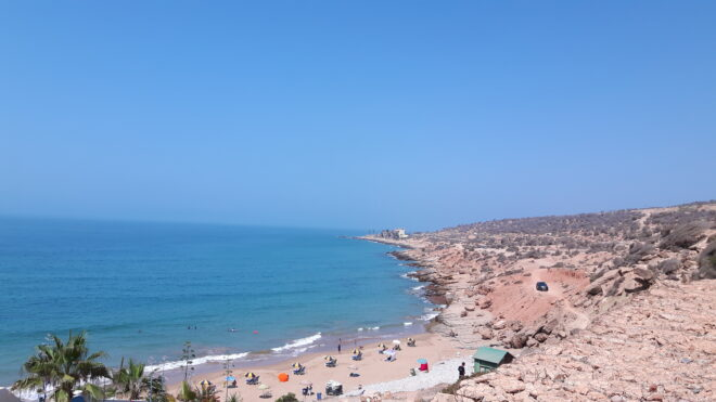 Am Strand in Taghazout, Marokko