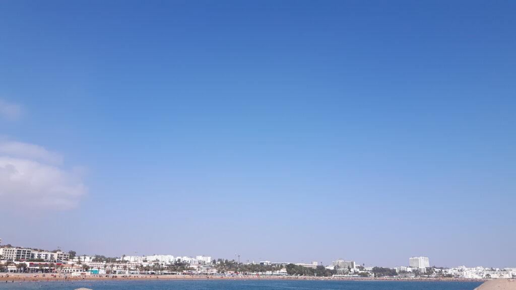 Ganz viel Blau - der Blick auf den Strand