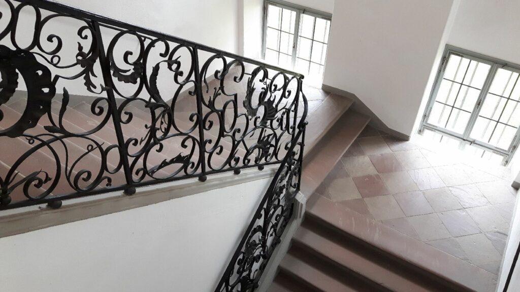 Im Treppenhaus der Prälatur