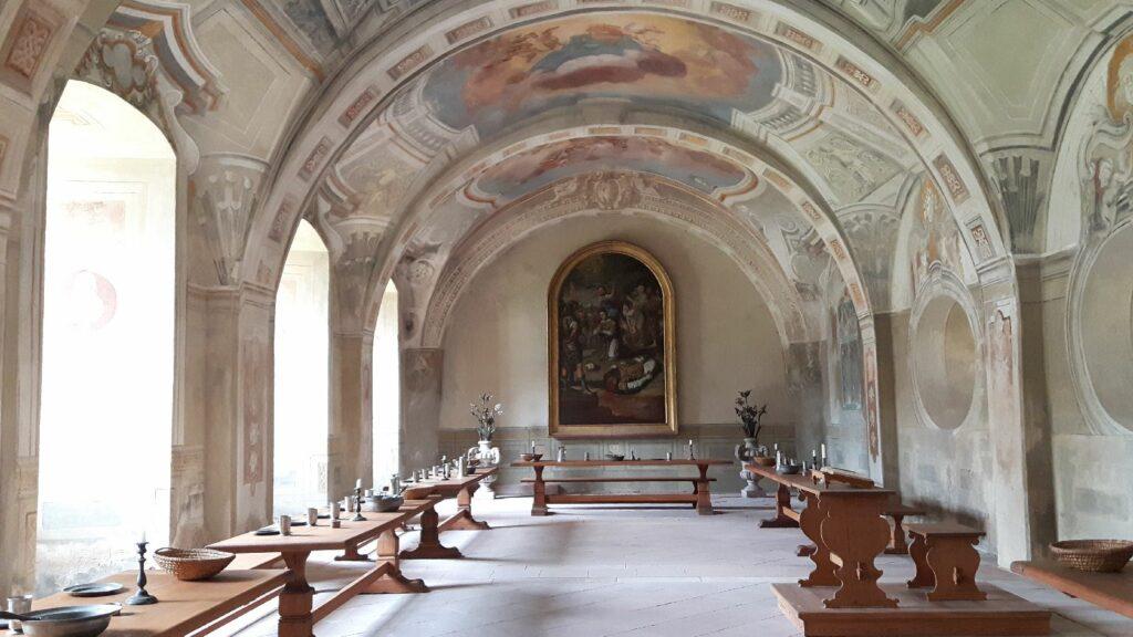 Das Sommerrefektorium in Kloster Seligenstadt